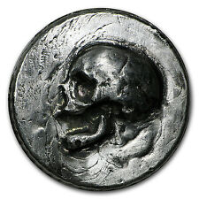 3 oz Silver Ultra High Relief Round - MK Barz & Bullion (Skull) - SKU #95277