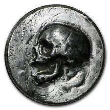 3 oz Silver Round - MK Barz & Bullion (Skull, Ultra High Relief) - SKU #95277