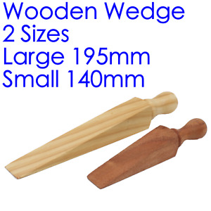 Door Wedge Wood Hold Open Shut Stop Wooden Stopper Traditional Jam Jammer 2 Size