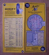carte MICHELIN 78 BORDEAUX - BIARRITZ 1964