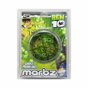 Ben 10 ten - Boys Marbz 15 Marbles & Cards Ghost Freak Out Game - New Toy