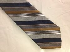 Mens Blue Brown Gray Tie Necktie JCPENNY~ FREE US SHIP (5057)