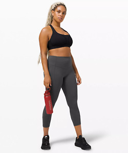 Lululemon NWT ALL THE RIGHT PLACES CROP GRAPHITE GREY SIZE 4