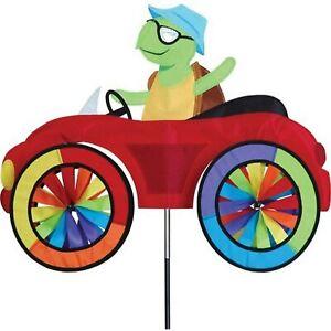 TURTLE in a Car Spinner, Whirligig, Garden Stake by Premier Design