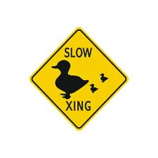 Duck Bird Crossing Sign Municipal Grade D.O.T. Street Road Sign W11-13RA16RK