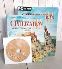 Sid Meier's Civilization III 3 PC CD-ROM Big Box Edition Rare Complete