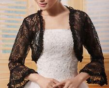 New Black Bridal Lace Bolero Jacket Shawl Wraps Cape Pashmina Wedding Dress