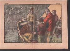 Toussaint PECHEURS EN MER All Saints' Day SEE FISHERMAN ILLUSTRATION 1935