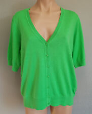 BNWT Womens Sz XL 18 Mix Brand Lawn Green Short Sleeve V Neck Cardigan