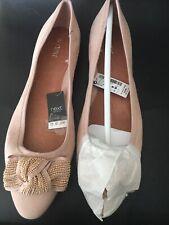 BN Next Nude Suede Ballerina Pumps Size 6.5