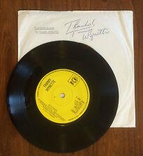 Hand Signed Vinyl 45 record TAMMY WYNETTE - DIVORCE - D-I-V-O-R-C-E