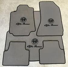 Autoteppich Fußmatten Kofferraum Set für Alfa Romeo 159 Sportwagon Grau Vel 5tlg