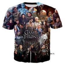 New Fashion Womens/Mens Game of Thrones Funny 3D Print Casual T-Shirt YT522