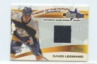DAVID LEGWAND 2001-02 BOWMAN YOUNG STARS GAME-WORN JERSEY NASHVILLE PREDATORS