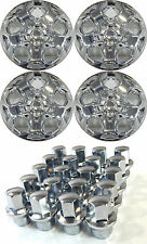 "(4) 2010 FORD FUSION 17"" CHROME HUBCAPS WITH TWENTY (20) LOCKING LUGNUTS"
