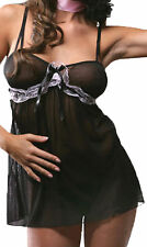 sexy Babydoll & String Negligee Set S/M = 34 36 Dessous Wäschebeutel