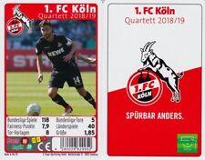 1 FC Köln Quartett Kartenspiel 2018/2019 Karten Fußball Ball Bundesliga Neu OVP