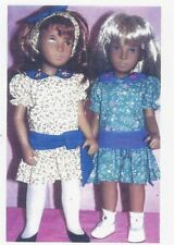 "Sewing Pattern fits 16"" Sasha dolls & other dolls same in size dress head piece"