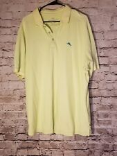 Tommy Bahama Men's Shirt Size XLGreen Polo Short sleeve Hawaiian Fish t70