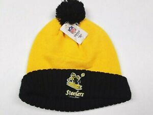 Pittsburgh Steelers NFL Reebok Vintage Collection Retro 1961 Knit Winter Hat NEW