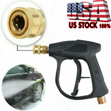 High Pressure Water Spray Gun Brass Nozzle Garden Hose Pipe Lawn for Car 4000psi