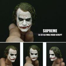 Supreme 1/6 Scale Joker Heath Ledger Head Sculpt For 12'' Figure Body Hot Toys