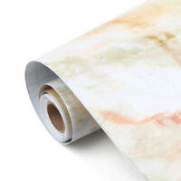 5M Marble Self Adhesive Wallpaper Gloss Kitchen Furniture Wall Stickers Decor