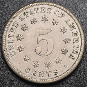 1883 Shield 5c (Nickel) About Uncirculated