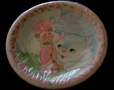 Vintage 8 ROSE-PETAL PLACE Paper Plates Hallmark Cat Kitten Sealed! RARE