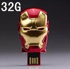 Iron Man3 New USB Flash Drives Cute Gift box32G memory stick Movie Hero Fastpost