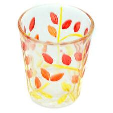 Vetro di Murano Colpo Bicchiere Rosso Arancione Mano Dipinto Fiore Modello 57ml