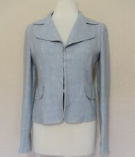 Akris Punto Blazer Jacket 4 US Women gray linen