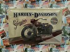Harley-Davidson Genuine 750 Flathead - Tin Metal Wall Sign