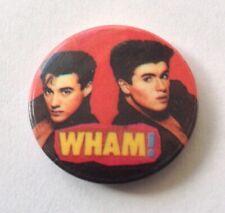 Wham Vintage Tin Button Badge George Michael Andrew Ridgeley