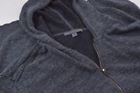 John Varvatos Size XL Linen Cotton Long Sleeve Zipped Hoodie Sweater Mens