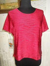 Tee shirt polyamide rouge stretch effet vagues UN JOUR AILLEURS petit 48 46 20uk
