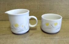 Retro Vintage Coloroll Spritz Sugar Bowl & Milk Jug - Staffordshire Tableware