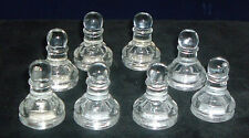 """Glass Chess Replacement Piece Clear Eight 8 Pawns 1 5/8"""" Craft Project"""