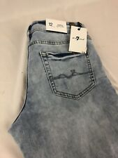 7 FOR ALL MANKIND Woman's Jeans Size 12 White Bleach Color Skinny Boyfriend NWT