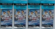 (4) 2020 Topps CHROME Baseball MLB Trading Cards New, Full, 17ct. VALUE PACKS
