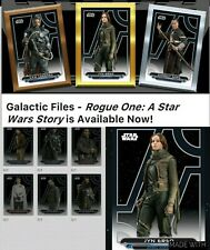 Topps Star Wars Card Trader Galactic Files Rogue One Story Set w Meld & Award