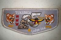 OA TUKARICA LODGE 266 ORE-IDA COUNCIL PATCH COUGAR RAM 25TH ANN GMY SMY FLAP