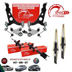 Kit Bracci Rinforzati + Ammortizzatori Rinforzati Alfa Romeo 147 / GT / 156