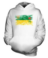SASKATCHEWAN DISTRESSED FLAG KIDS HOODIE TOP GIFT SHIRT CLOTHING JERSEY