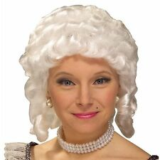 Colonial Wig Woman's White 18th Century Style Ringlet Curl Synthetic Hair Wig
