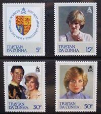 TRISTAN DA CUNHA 1982 Princess of Wales Birthday. Set of 4. MNH. SG327/330.