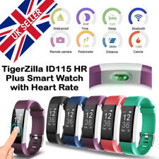 ID115 HR Plus Bluetooth Smart Watch Fitness Tracker Bracelet Heart Rate Steps