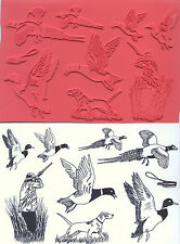 unmounted rubber stamps Duck Hunting collection 9 images