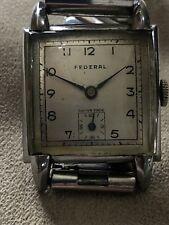Rare Vintage Art Deco Federal Mens Gents Mechanical Wristwatch Watch