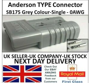 Anderson SB175 Amp Model 0AWG Grey Colour Cable Power Connectors UK Battery